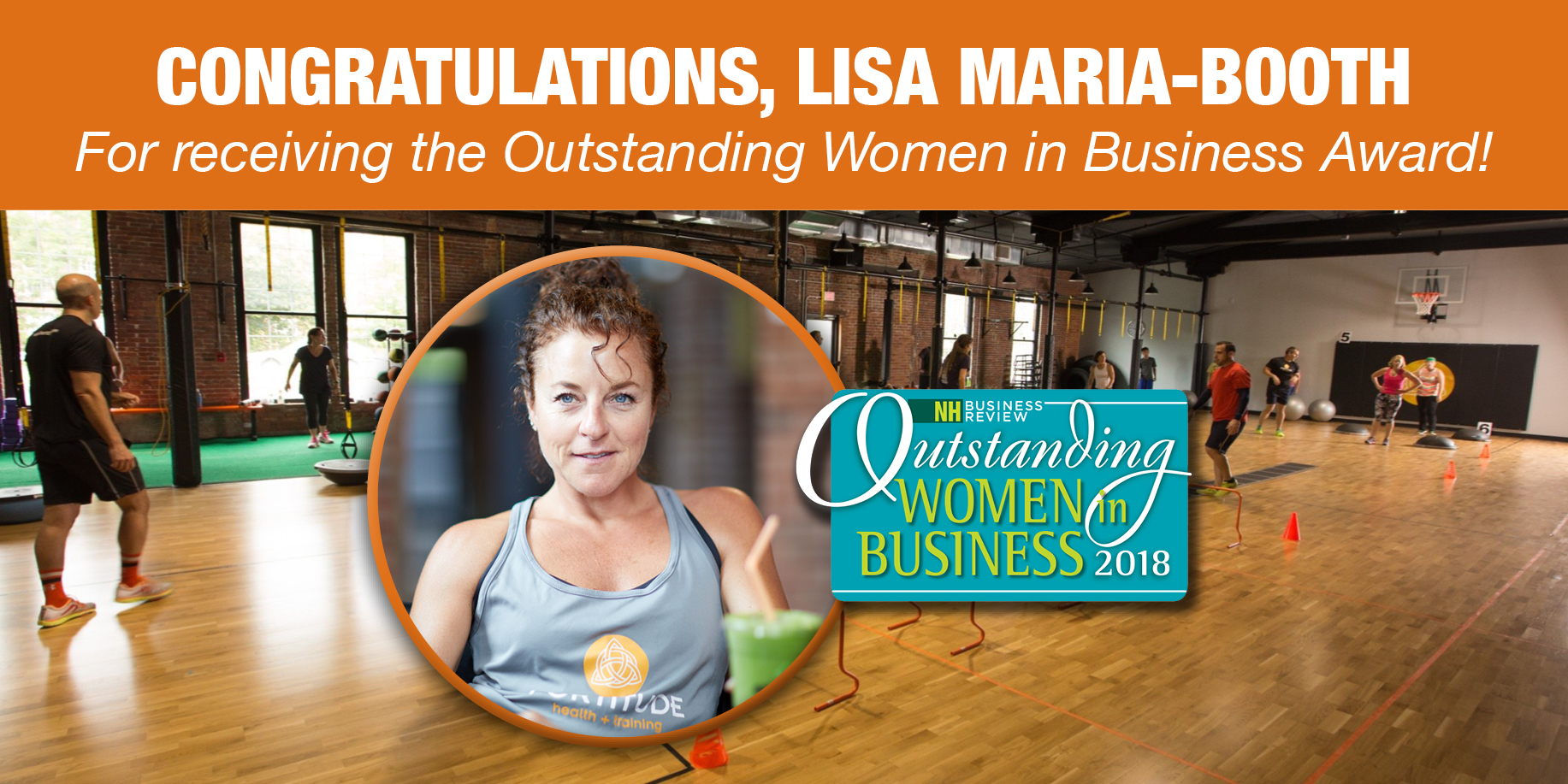 Lisa Maria-Booth receives Outstanding Women in Business Award 2018
